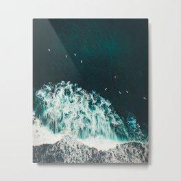 Aerial Ocean Photography Nature Metal Print