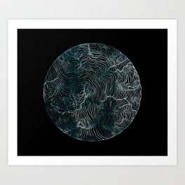 Lines of the Tide Art Print