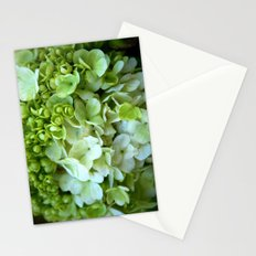 Green to white blooms Stationery Cards