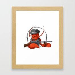 Mobster Lobster Framed Art Print