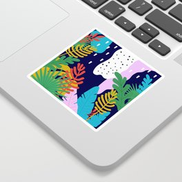 Jungle with tropical leaves background Sticker