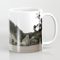 coasters Mugs featuring Hug Point, Oregon by A Wandering Soul