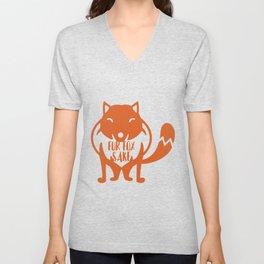 Fur Fox Sake Unisex V-Neck