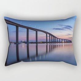 The Jordan Bridge at Twilight Rectangular Pillow