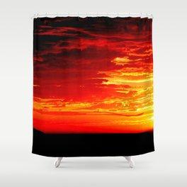 Fiery Sky Shower Curtain