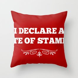 State Of Stampede Throw Pillow