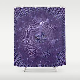 The relationships - An abstract fractal illustration Shower Curtain