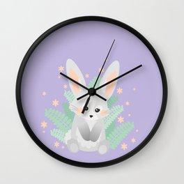Baby Rabbit / Lilac Wall Clock