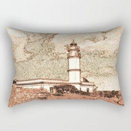 Lighthouse, Faro Ses Salines Rectangular Pillow
