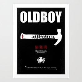 Oldboy - Minimal Movie Poster. A Film by Chan-wook Park. Art Print