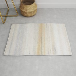 Rustic gray gold yellow vintage white marble Rug