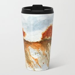 Firebranch Ridge, Watercolor Abstract Landscape Art Travel Mug