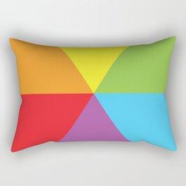 rainbow colour wheel Rectangular Pillow