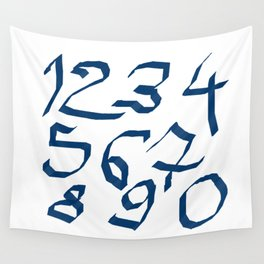 Chiffres bleus Wall Tapestry
