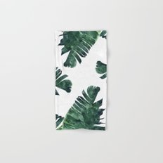 Banana Leaf Watercolor #society6 #buy #decor Hand & Bath Towel