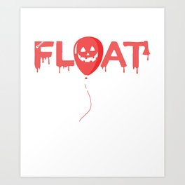 Make America Float Again Funny Halloween T-Shirt Horror Graphic Art Print