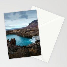 Lake Mountain sky blue Stationery Cards