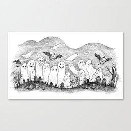 Halloween Ghosts Canvas Print