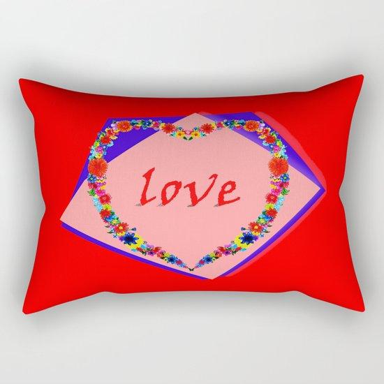 heart of flowers Rectangular Pillow