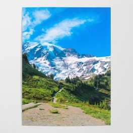 A Hike in the Mountains Poster