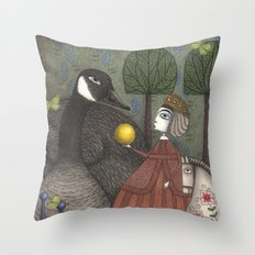 There Once was a Goose Throw Pillow