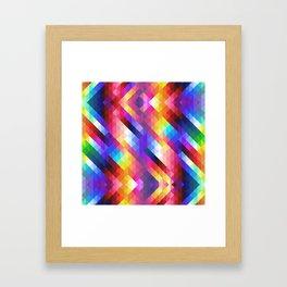 HIPSTER GEOMETRY Framed Art Print