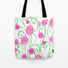 Flowers and Vines Tote Bag