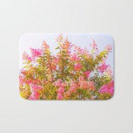 Pink Crepe Myrtle Flowers Bath Mat