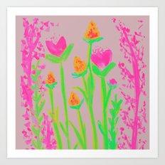 NEON BLOOM  Art Print