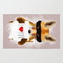 Fox I Love You Rug