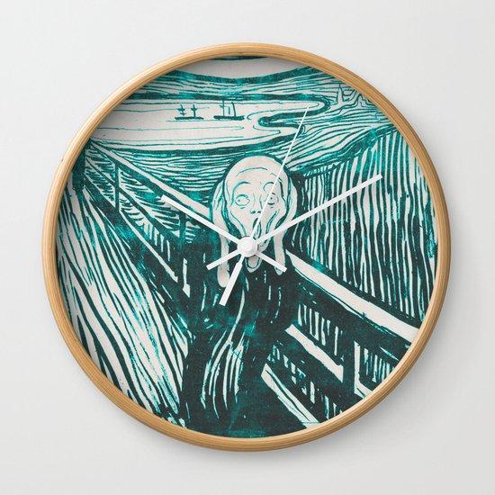 The Scream's Haze (light blue) Wall Clock