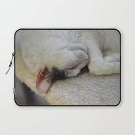 Cute Kitty Snoozes Softly Laptop Sleeve