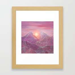 Lines in the mountains 02 Framed Art Print