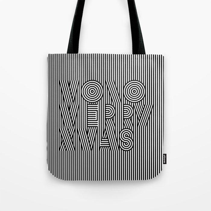 Mono Merry Xmas Tote Bag