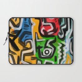 Primitive street art abstract Laptop Sleeve