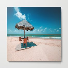 Beach side corner Metal Print
