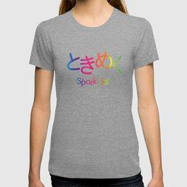 Tokimeku (Spark of Joy) - Rainbow Typography version T-shirt