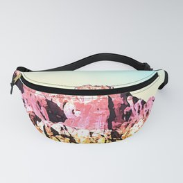 Gold and Pink Mountain Fanny Pack