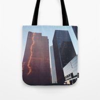 houston Tote Bags featuring Houston by Jorieanne