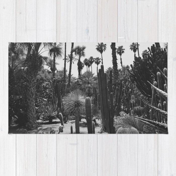 Tropical Cacti Gardens BW Rug