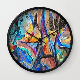 Blue Mineral Peridotite Wall Clock