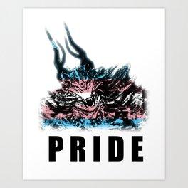 Transgender Pride Demon Art Print