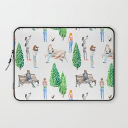 girls in the park pattern Laptop Sleeve