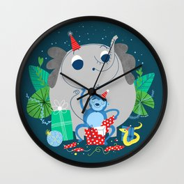 Monkey Birthday Gifts Wall Clock