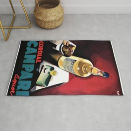 Vintage Campari Italian Cordial Advertisement Wall Art Rug