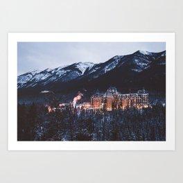 Banff Springs Hotel II Art Print