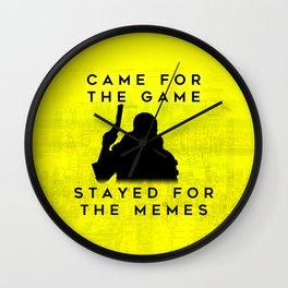 Cyberpunk 2077 Glitch Inspired Meme Design Wall Clock