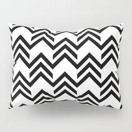 Broken Chevrons Black and White Pillow Sham