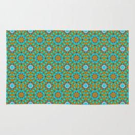 Moroccan Tile 1A - Blue Rug