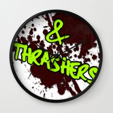 Slashers & Thrashers Wall Clock